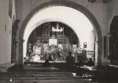 Un domingo antes de misa en 1977.