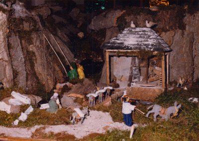 El burro con el molino y los pescadores en 1980.
