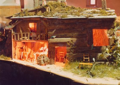El carpintero en su casa en 1981.
