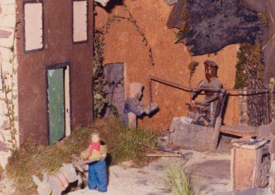 El herrero y su ayudante en 1982.
