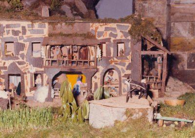 La noria junto al segador en 1982.