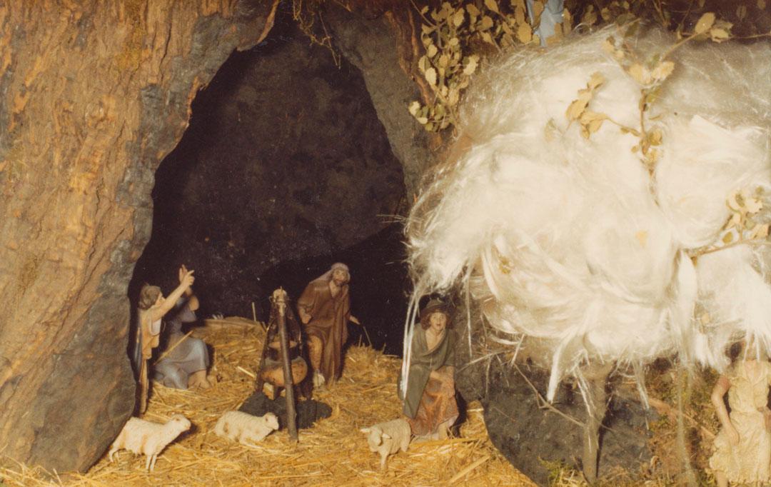 Los pastores en la cueva.