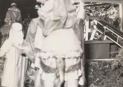 Los Reyes Magos junto a la mina en 1977.