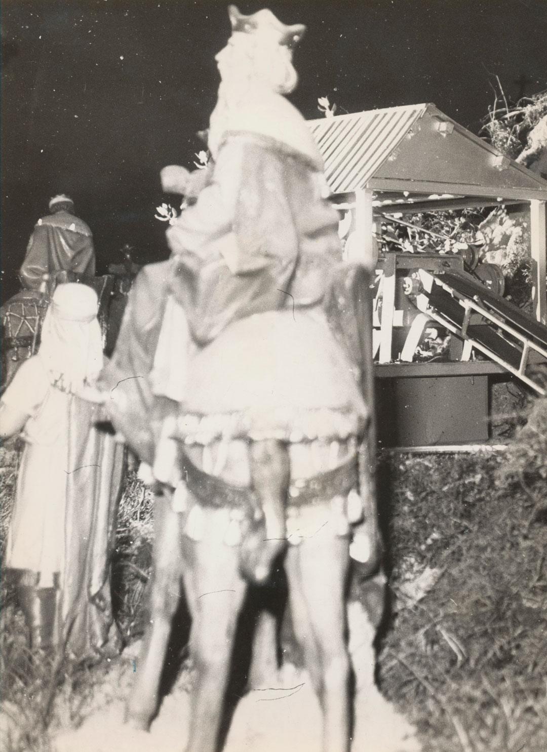 Los Reyes Magos junto a la mina