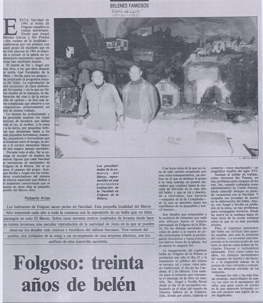 Artículo en el Diario de León.