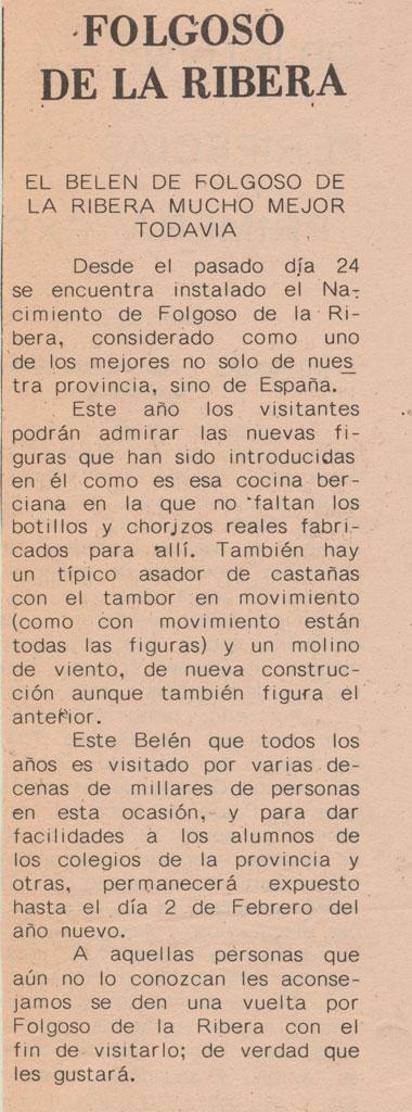 Artículo en el periódico Aquiana.