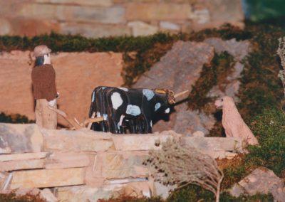 Vacas arando.