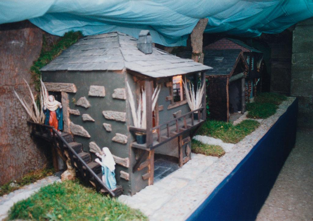 Las casas en la calle de atrás.
