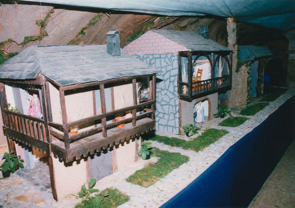 Casas en la zona cubierta.
