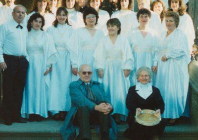 El coro en 1988.
