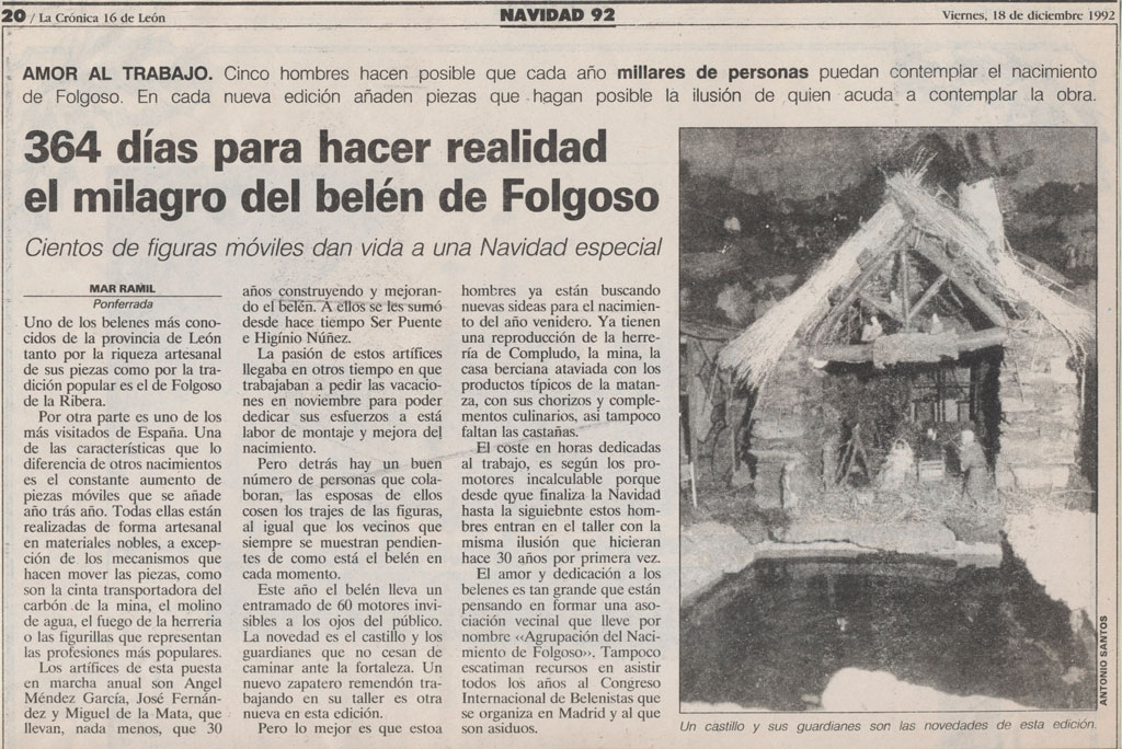 Artículo de prensa en La Crónica.