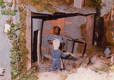 El herrero y su ayudante en 1985.