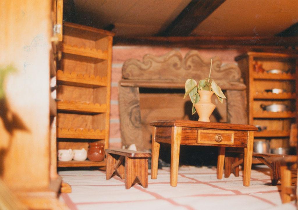 Detalle de los muebles en una casa.