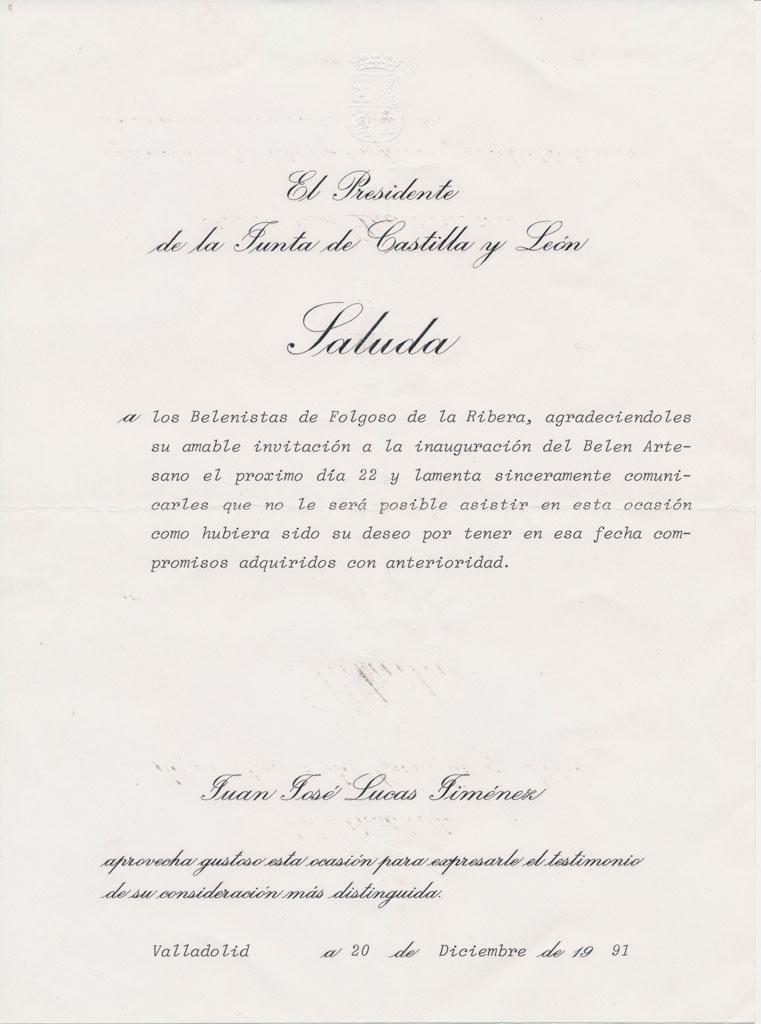 Denegación invitación de la JCYL.