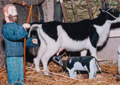 El ternero mamando en 1999.