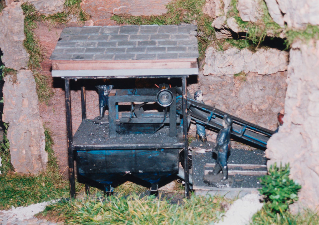 El lavadero en la mina.