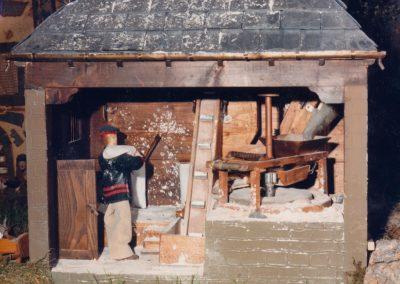 El molino de agua en 1986.