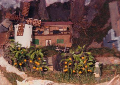 La noria y el molino de viento en 1988.