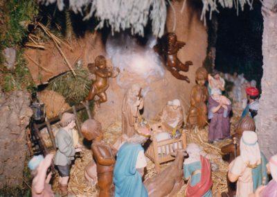 Los Reyes Magos adorando al Niño en 1987.