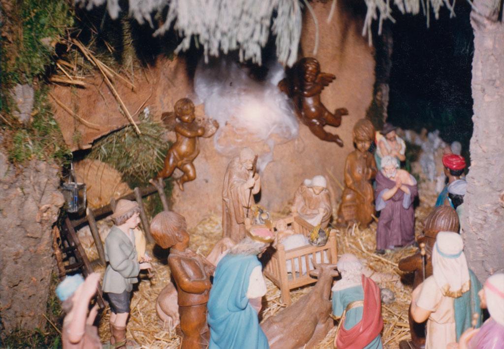 Los Reyes Magos adorando al Niño
