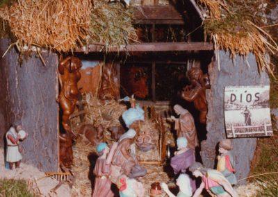 El portal de belén en 1985.