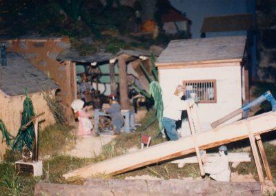 Los serradores en 1987.