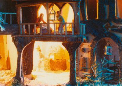El panadero en el horno en 1983.