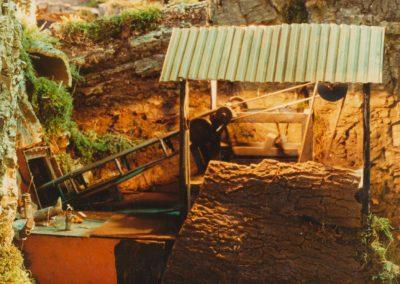 Lateral de la mina en 1983.
