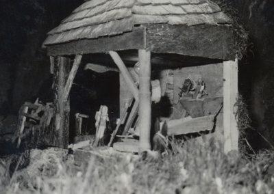 El molino en blanco y negro en 1983.