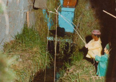 Los pescadores en 1983.
