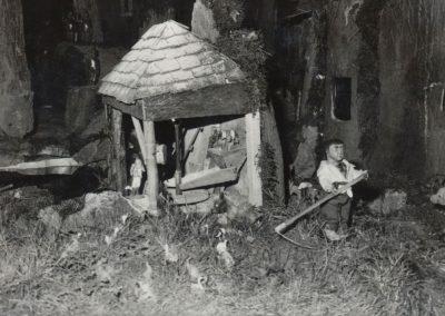 El segador junto al molino en 1983.
