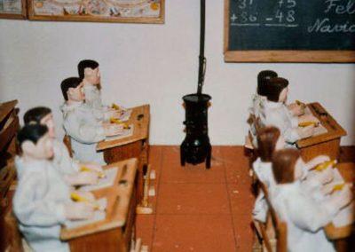 Los alumnos en sus pupitres en 2003.