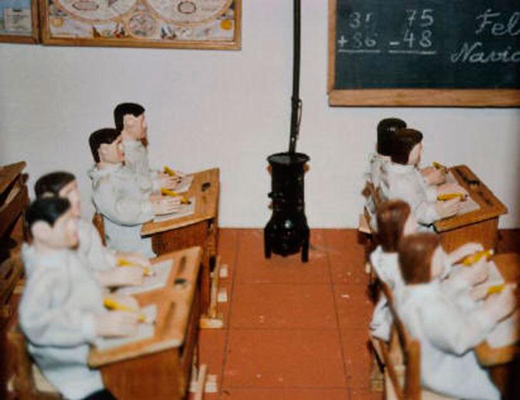 Los niños en la escuela.
