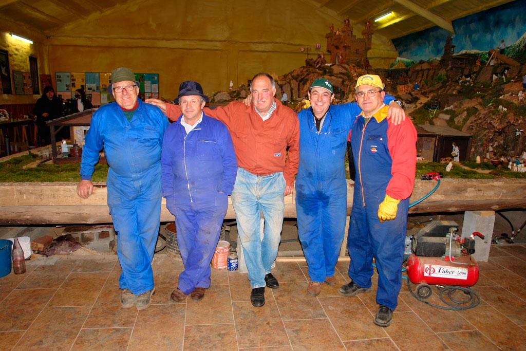 Gelo, Teodoro, Tomás, Benigno y Pepe.