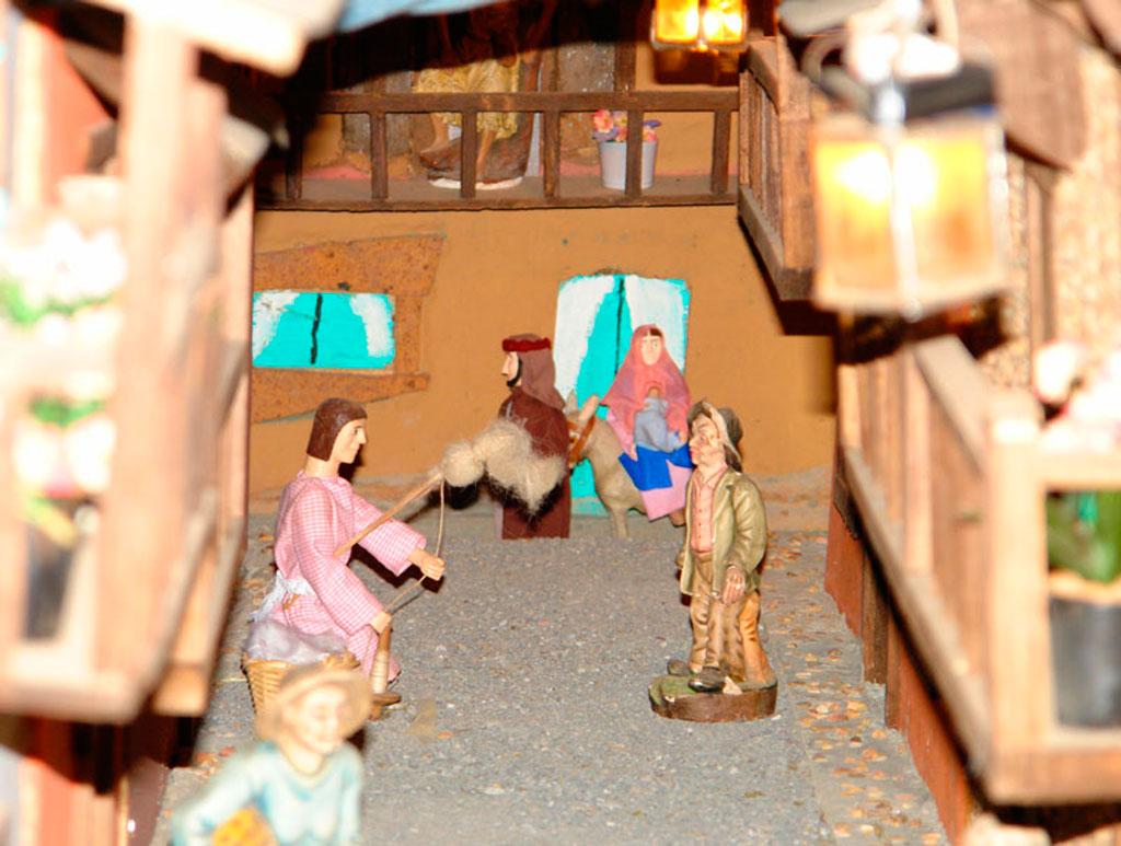 José y María huyendo de Egipto.