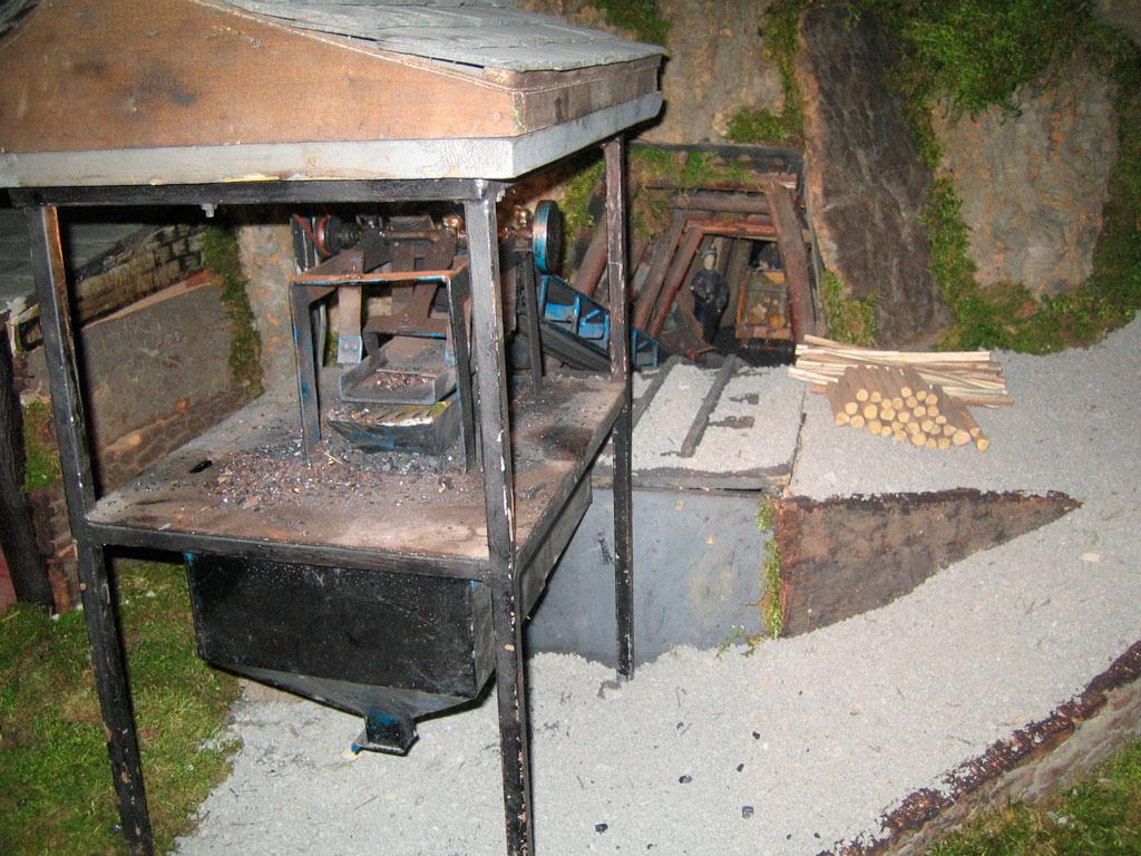 La mina desde fuera.