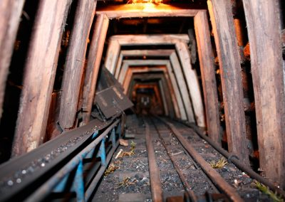 Interior de la mina en 2010.