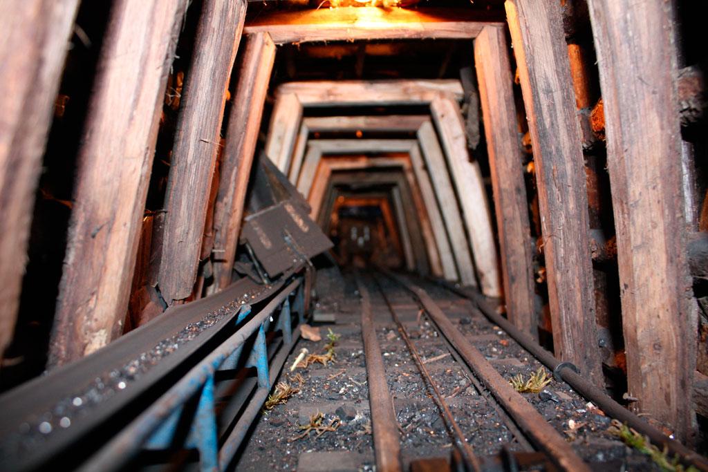 Interior de la mina.