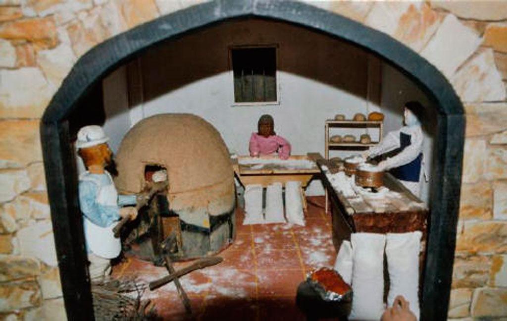 Haciendo el pan.