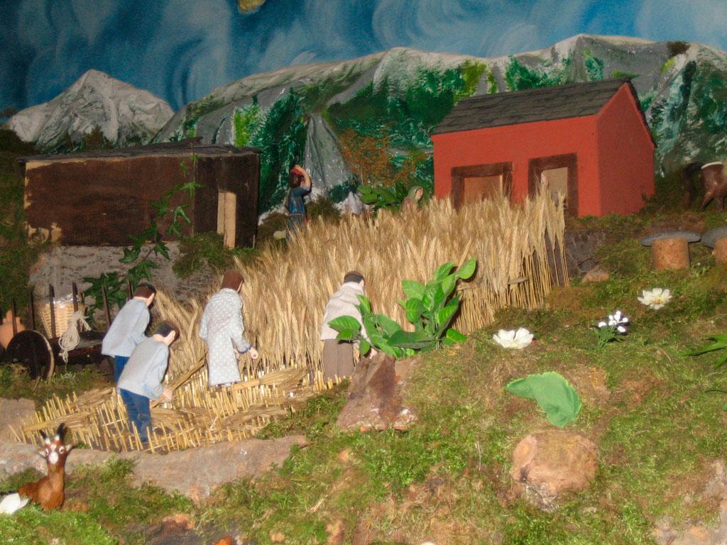 Hombres segando el trigo.