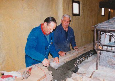 Higinio y Ser en 2002.