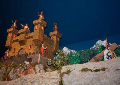 Serradores junto al castillo en 2009.
