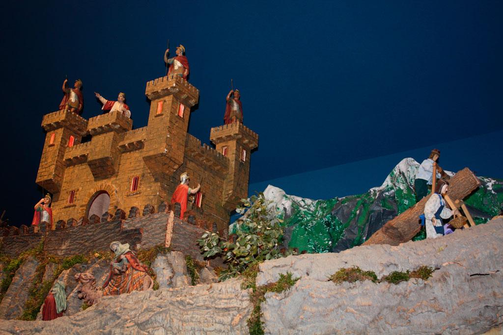 Serradores junto al castillo.