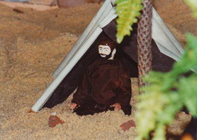 Hombre en el oasis en 2001.